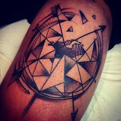 Dutch map tattoo
