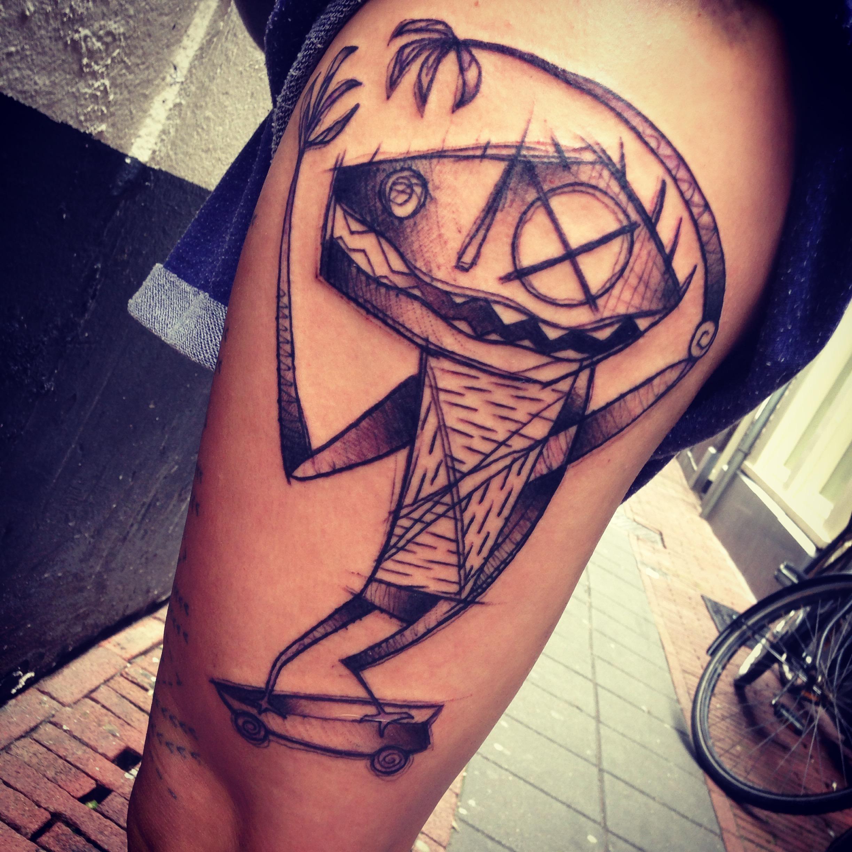 Skate monster tattoo