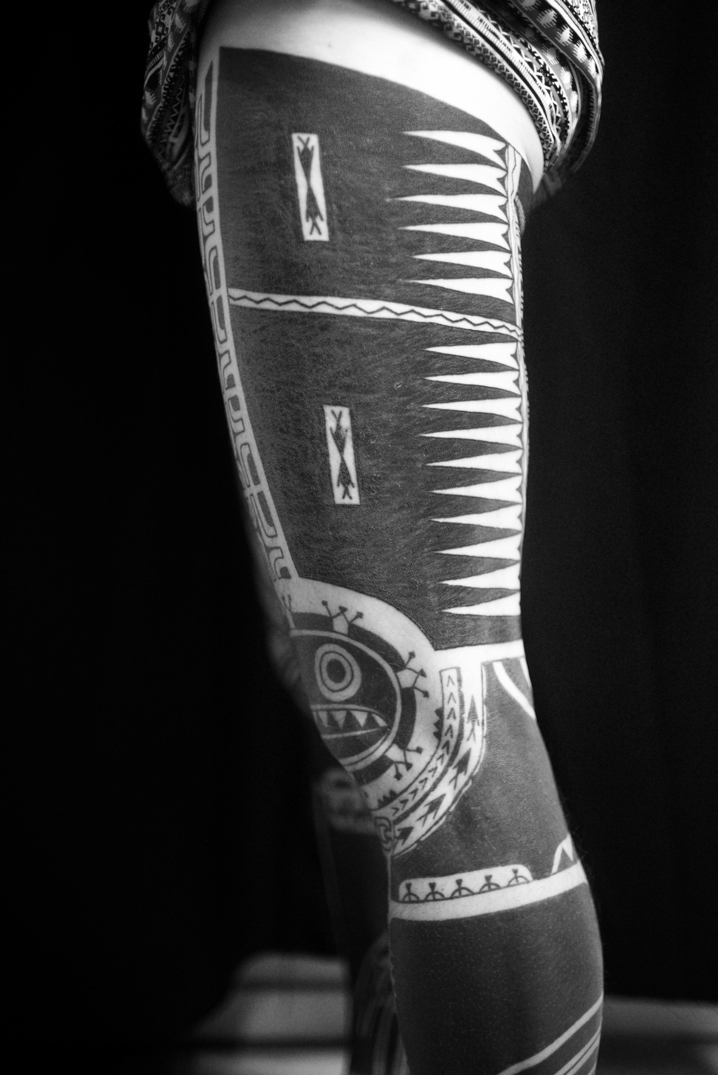 Marquesan leg sleeve