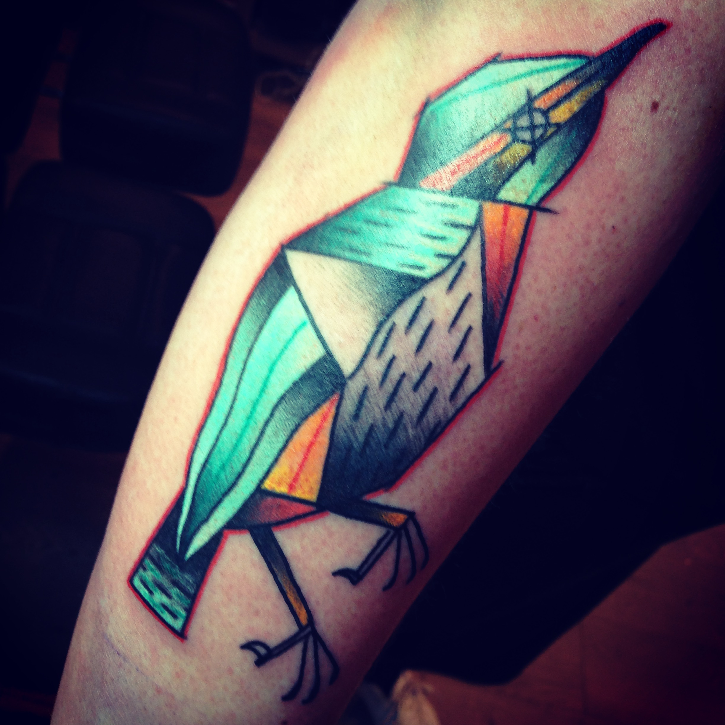 Dead bird tattoo