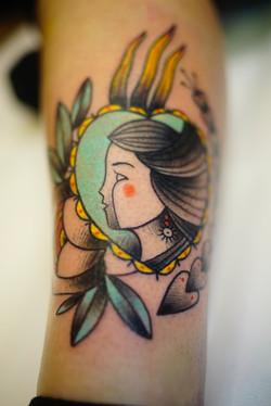 Heart/girl tattoo