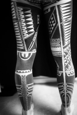Marquesan leg sleeves