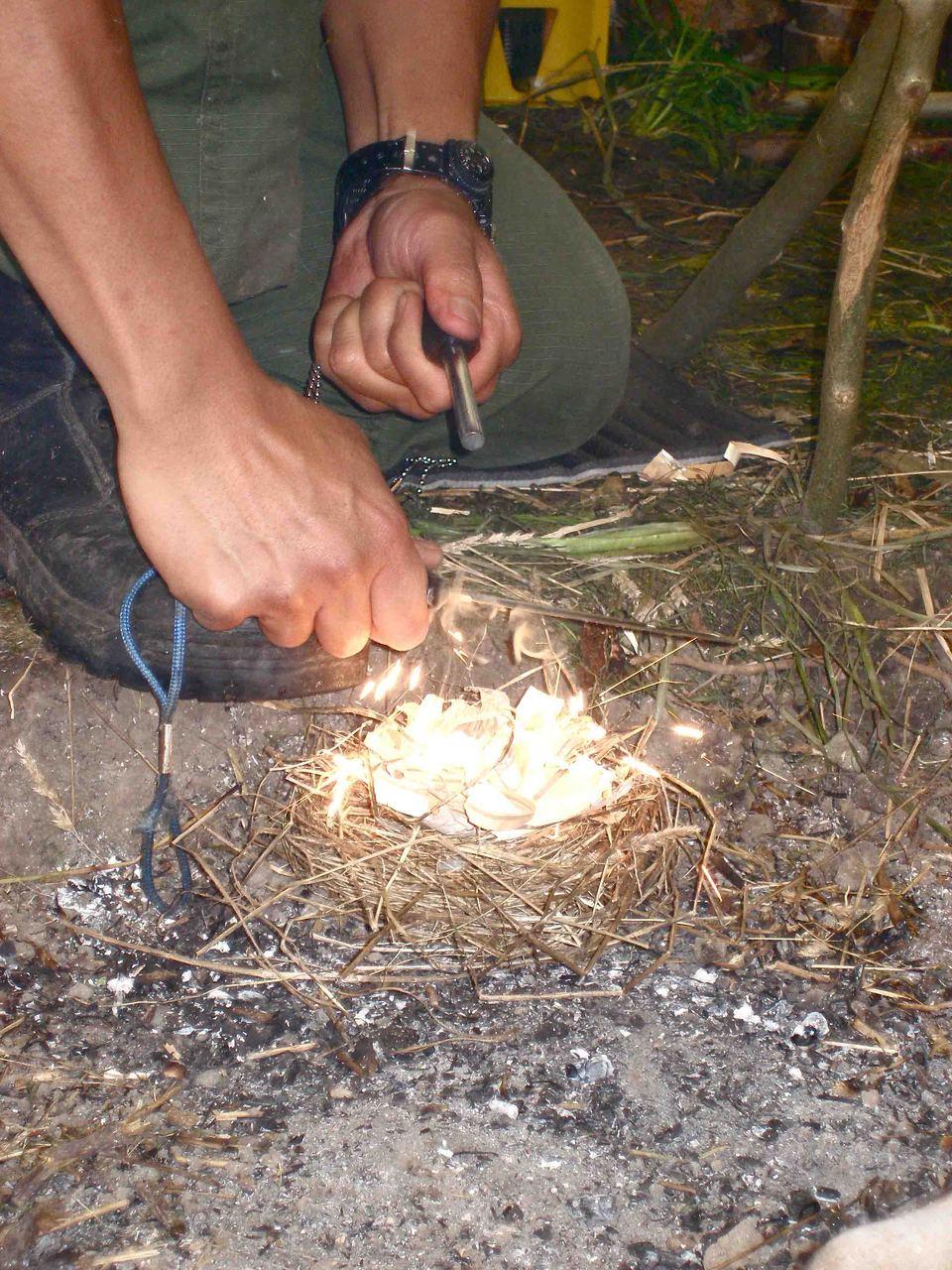Vuur maken met een firesteel