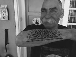 Marquesan lower arm tattoo