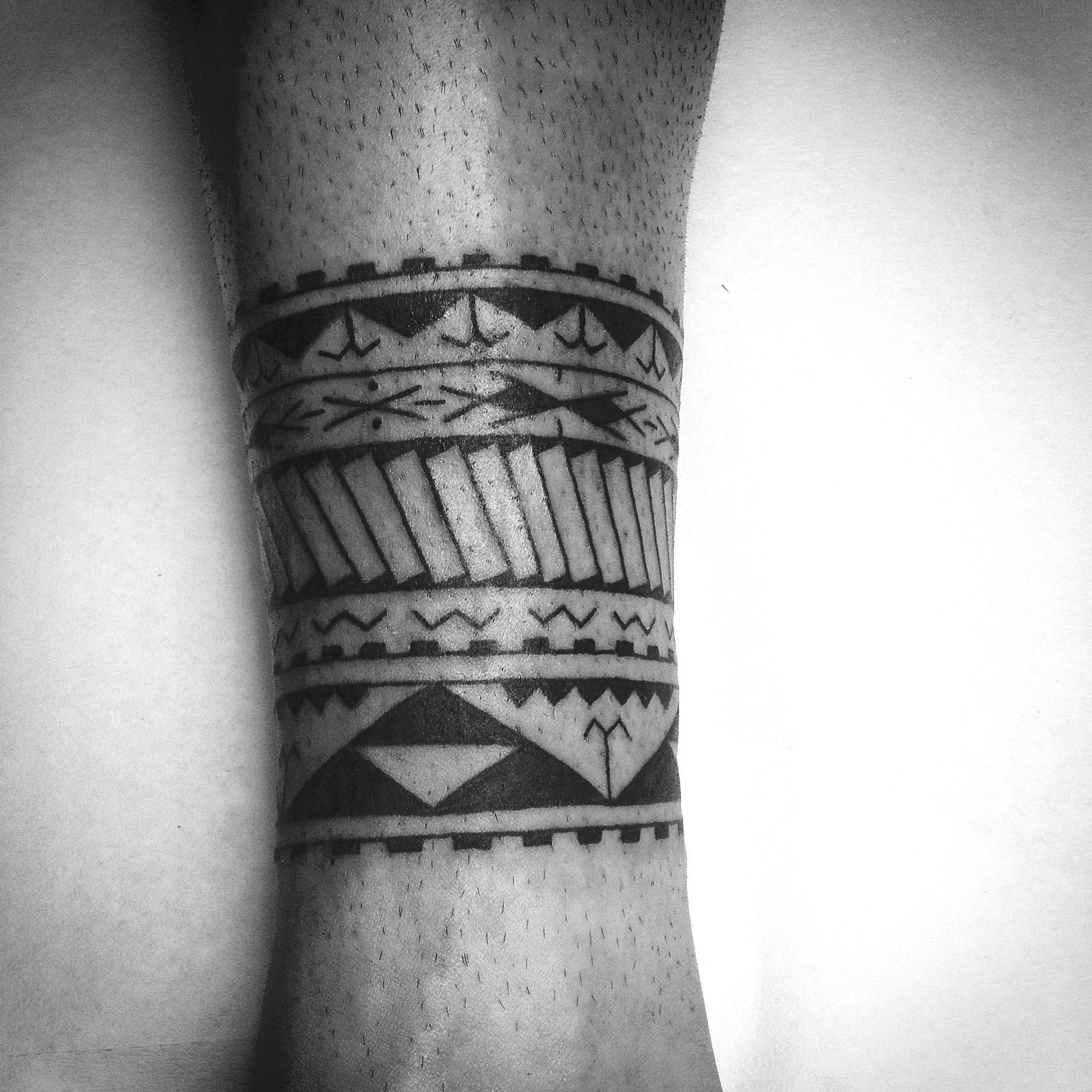 Polynesian mix tattoo