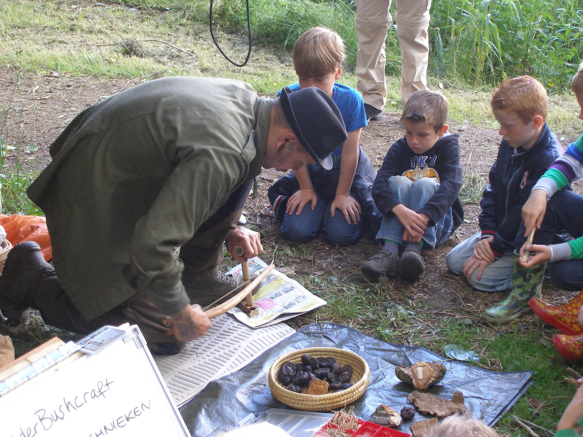 Bushcraft vuur workshop