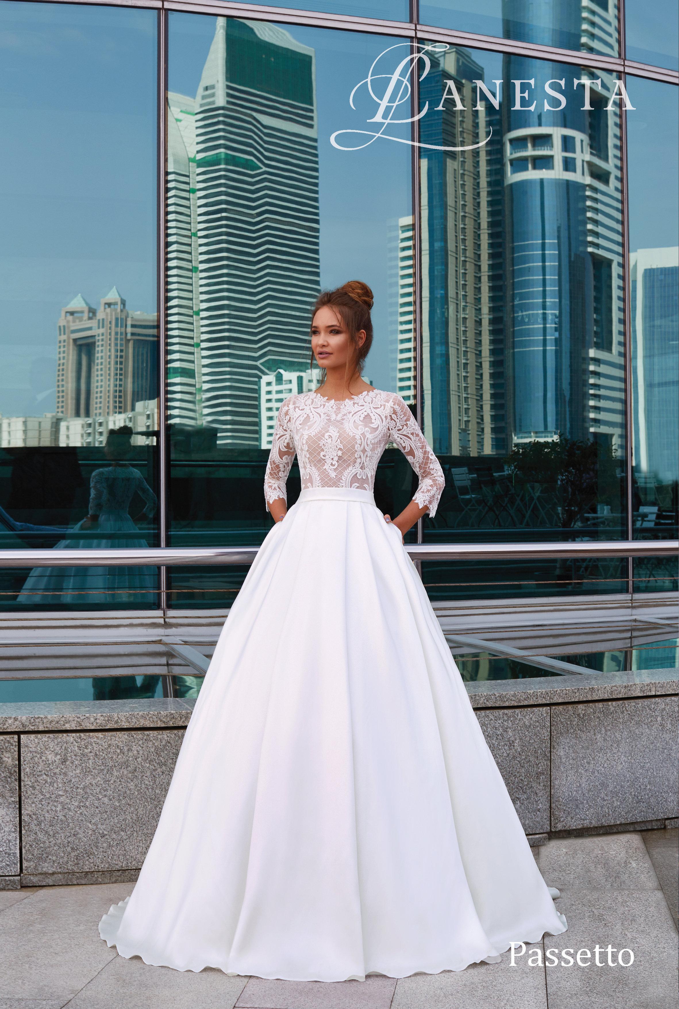Lanesta Passetto A vonalú menyasszonyi ruha d482977232