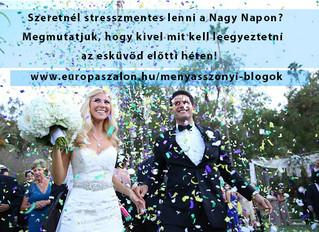 Kivel és mit kell egyeztetni az esküvő előtti héten?