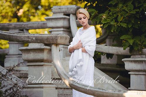 122 Menyasszonyi szőrme stóla