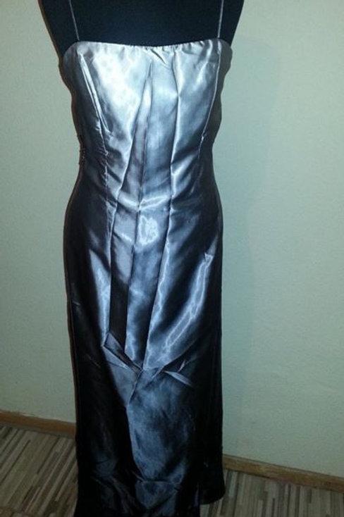Szürke-Fekete alkalmi ruha