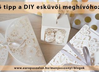 6 tipp a saját készítésű DIY esküvői meghívódhoz