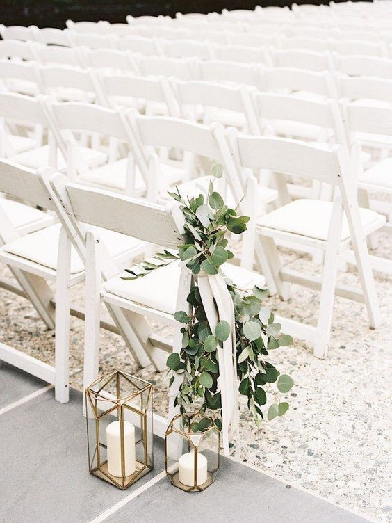 Greenery esküvői stílus esküvői dekoráció