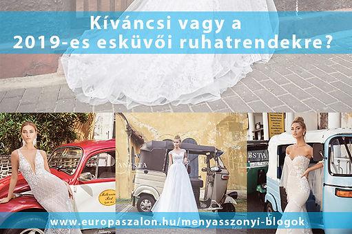 cf467b758f Érdemes legalább az esküvői ruhaszalonok 2019-es esküvői ruha kollekciója  között nézegetni, hogy felmérd mi az ami tetszik és mi az ami nem.