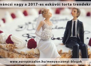 7 2017-es esküvői torta trend