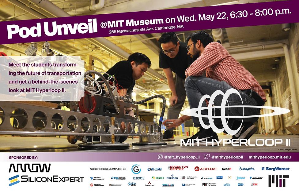 New MIT Hyperloop Unveiling Poster 11x17