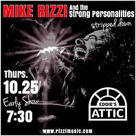 Mike Rizzi Eddie's Attic Show Poster 10/25/18