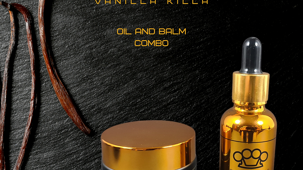 Vanilla Killa Beard Oil & Balm Combo