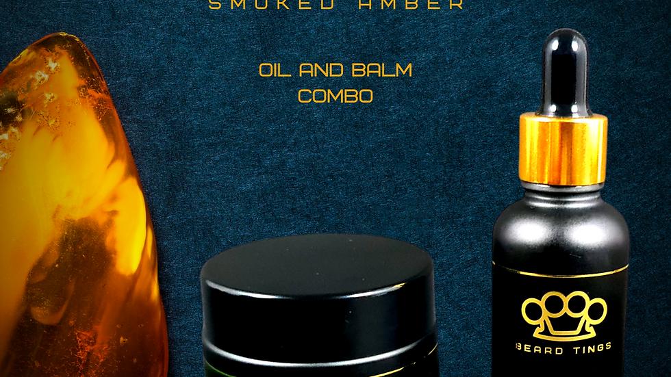 Smoked Amber Beard Oil & Balm Combo