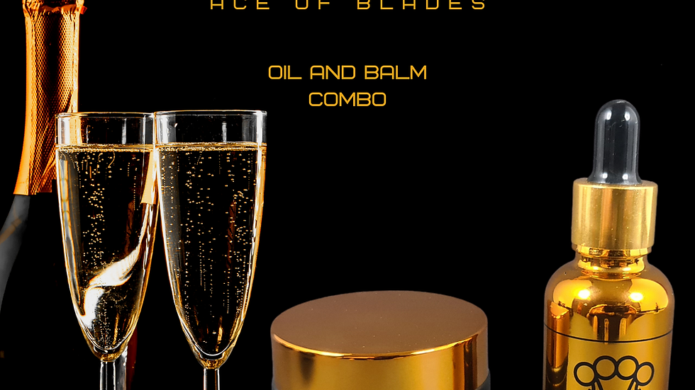 Ace of Blades Beard Oil & Balm Combo