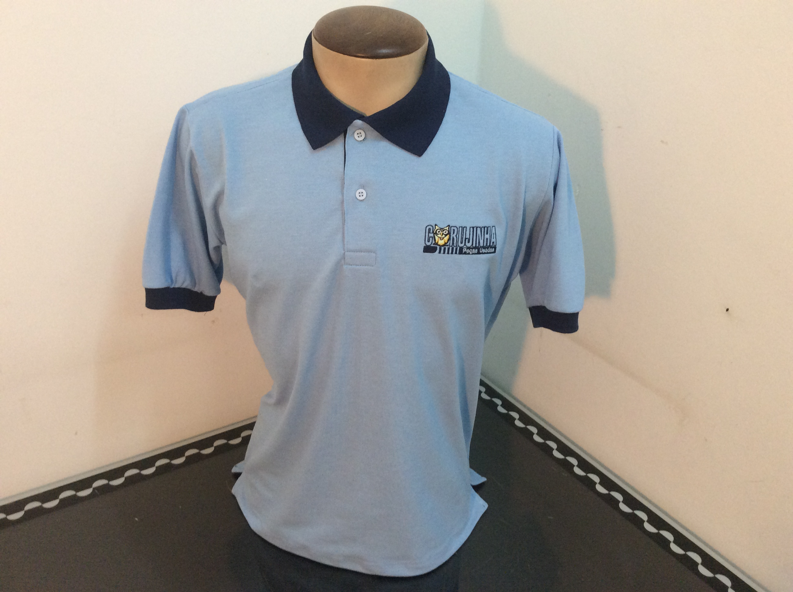 CAMISA GOLA POLO BORDADA