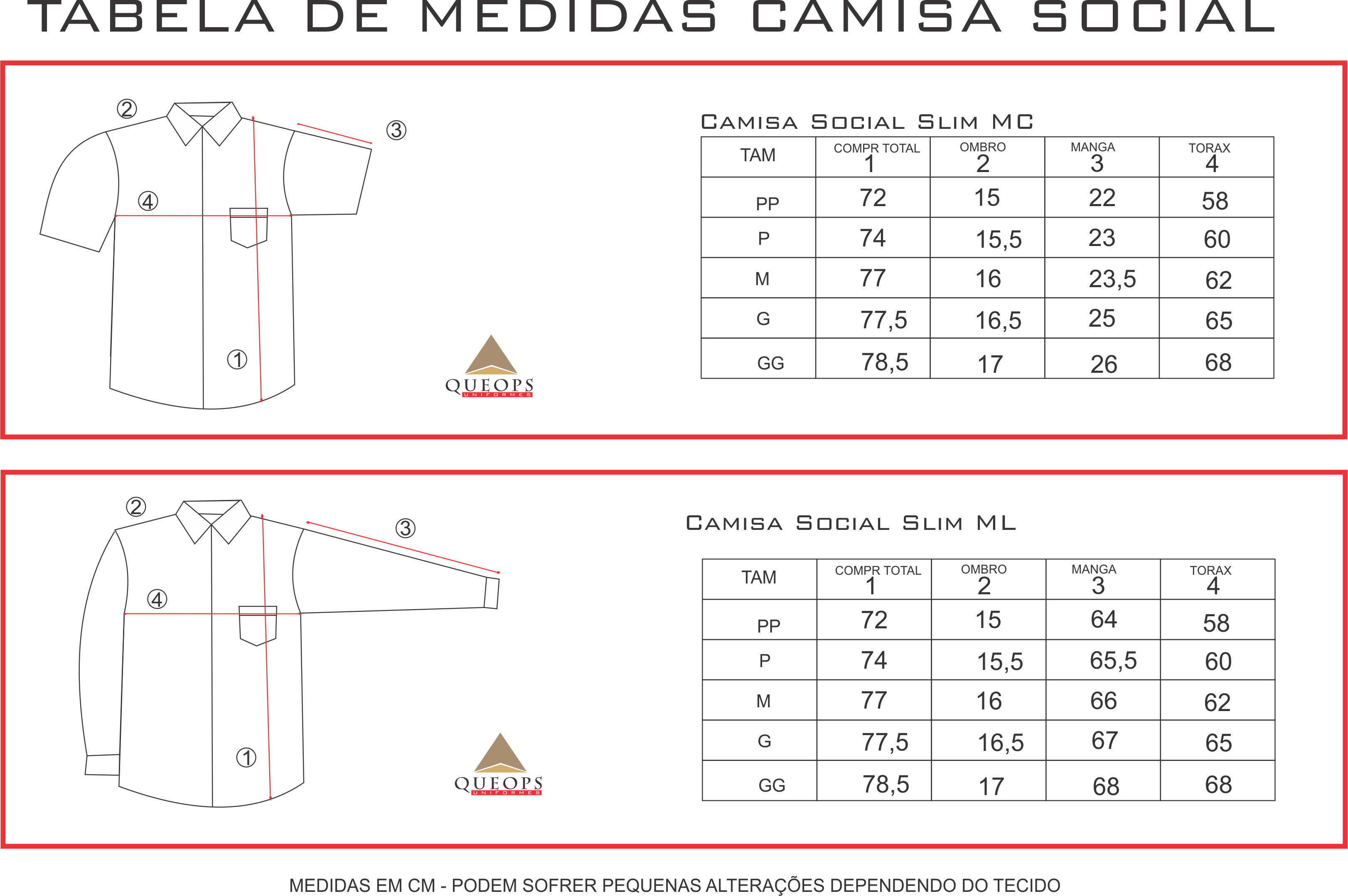 MEDIDAS CAMISAS