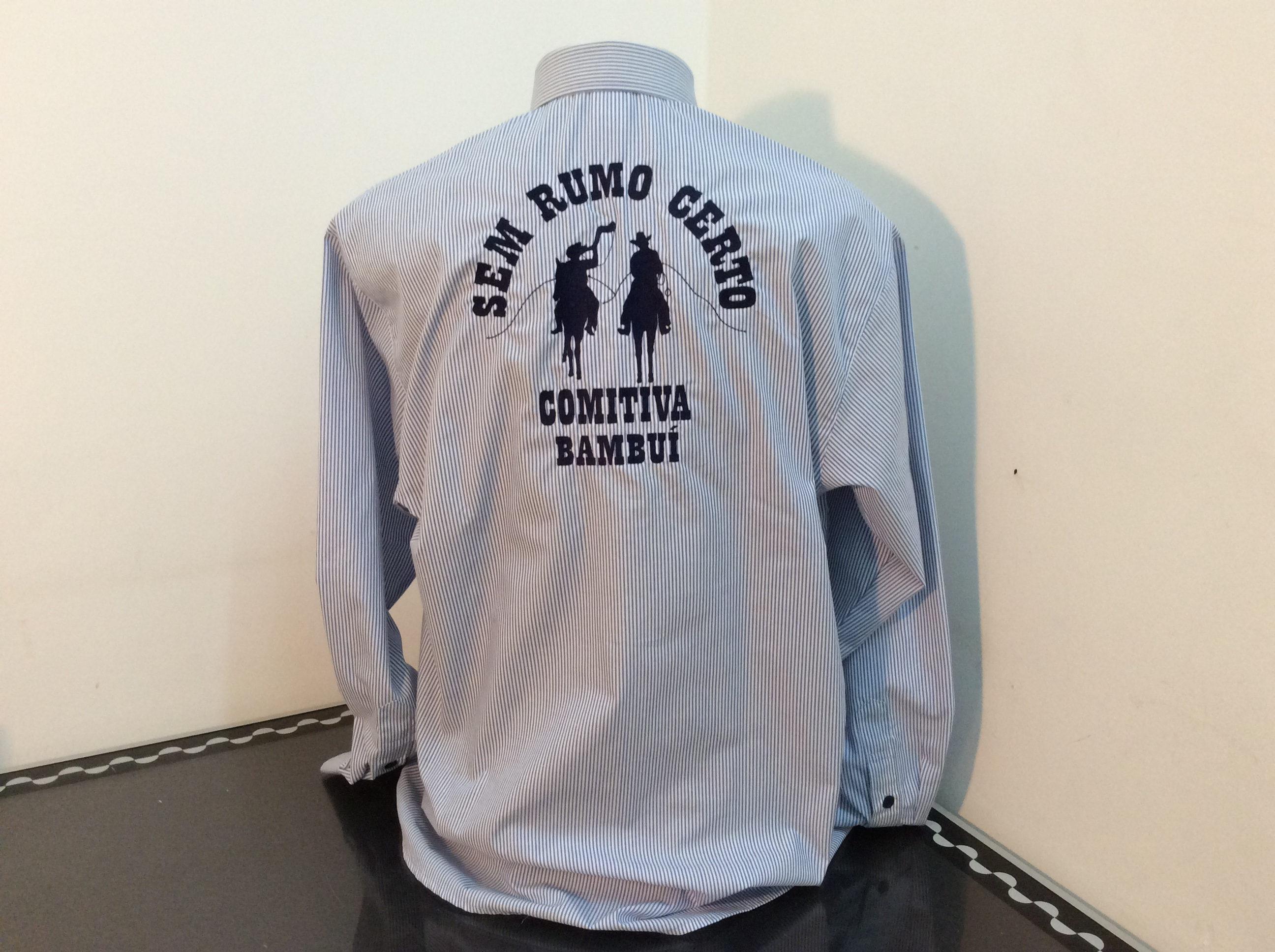 Costa camisa social tecido misto