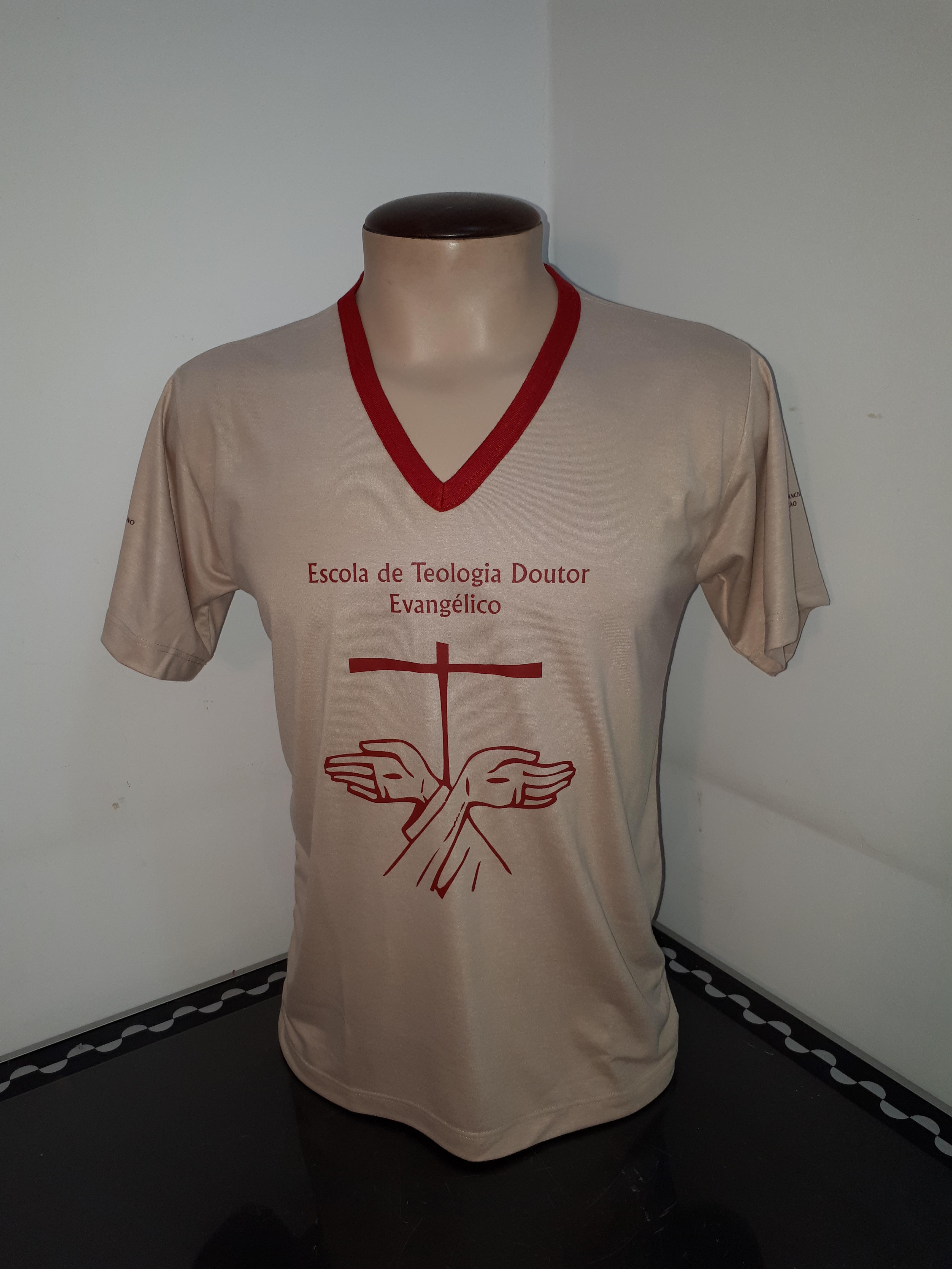 Camisao PV gola V silkado