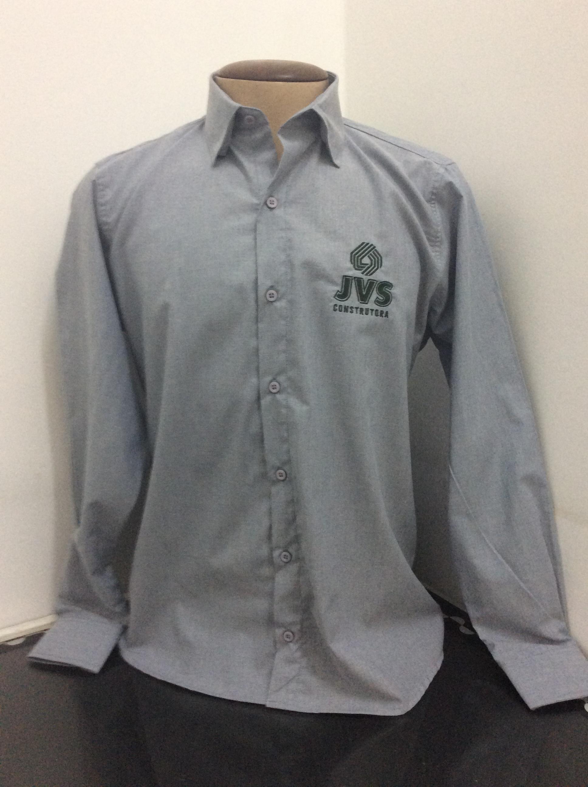 Camisa Social ML bordada.
