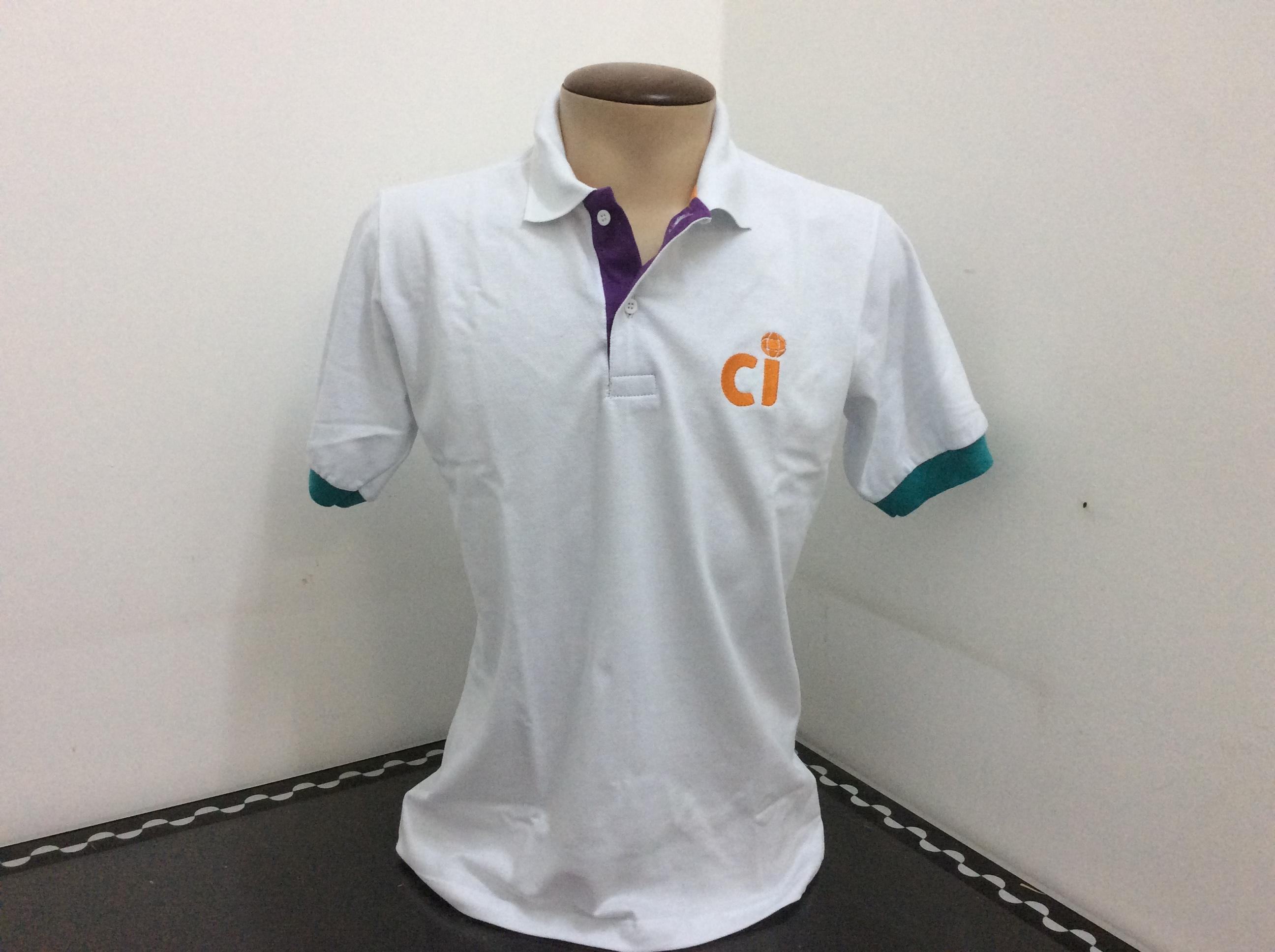 Camisa gola polo em piquet PA