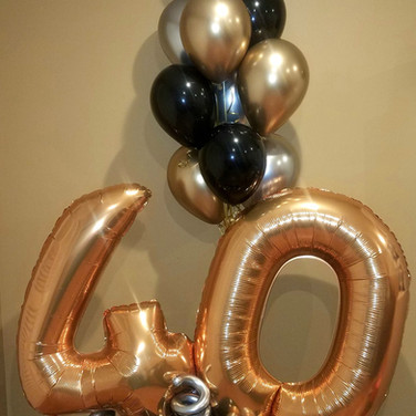 2 digits with helium bouquet