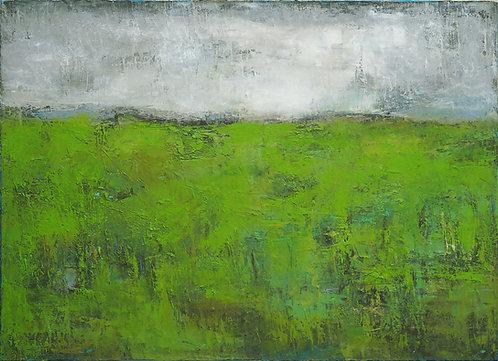 Profondeurs Vertes Journey I. oil on canvas