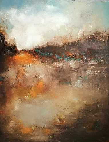 """The Fallen Sky"" oil on canvas"
