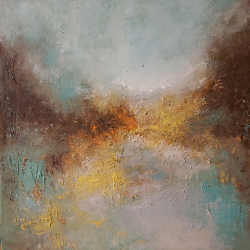 """""""Through the Bright Ways"""" oil on canvas"""