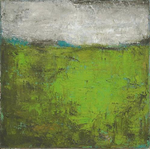 Profondeurs Vertes Journey II. oil on canvas