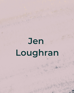 Keeping Faith Podcast Episode 1 with Jen Loughran on light pink textured background