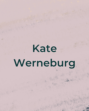 Keeping Faith Podcast Episode 6 with Kate Werneburg on light pink textured background