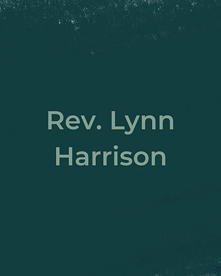 Keeping Faith Podcast Episode 9 with Rev. Lynn Harrison on dark green textured background