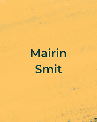 Keeping Faith Podcast Episode 10 with Mairin Smit on yellow textured background