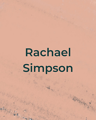 Keeping Faith Podcast Episode 7 with Rachael Simpson on peach textured background