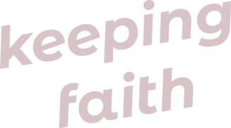 Keeping Faith Podcast logo in light pink