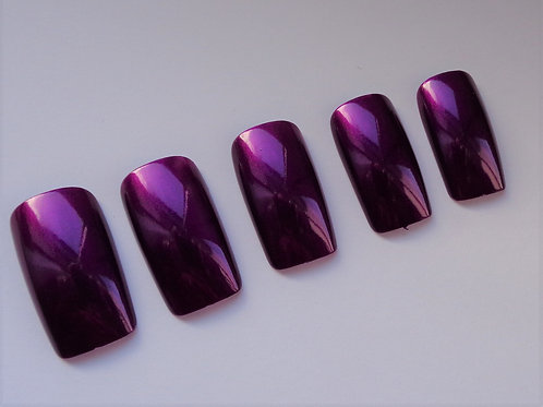 Wide fit false nails purple fiction in 5 styles