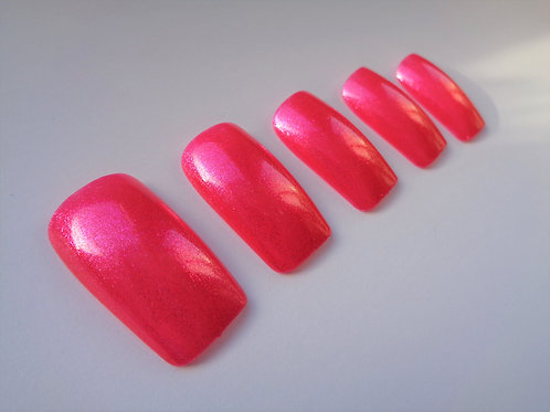 Wide fit false nails sparkly gambling heart 5 styles
