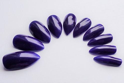 Indigo blue wide fit 5 style false nails