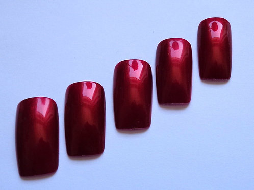 Wide fit false nails rich frosted burgundy in 4 styles