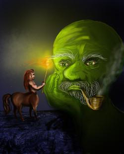 Centaur meets giant