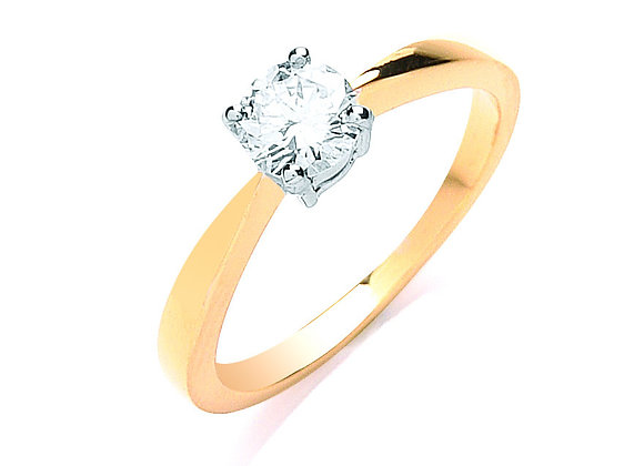 18CT GOLD .50CT DIAMOND ENGAGEMENT RING