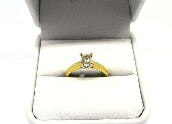 18CT GOLD 1/4CT DIAMOND RING