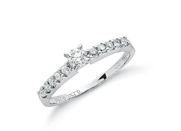 18CT WHITE GOLD .50CT DIAMOND RING