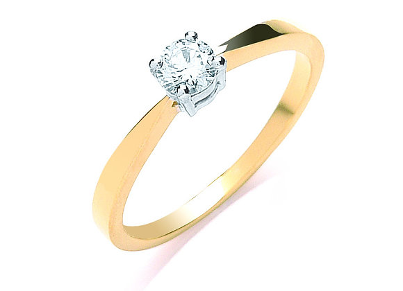18CT GOLD .25CT DIAMOND ENGAGEMENT RING