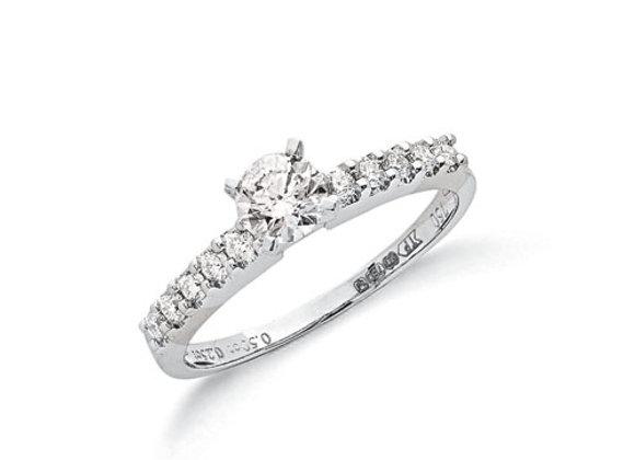 18CT WHITE GOLD .75CT DIAMOND RING